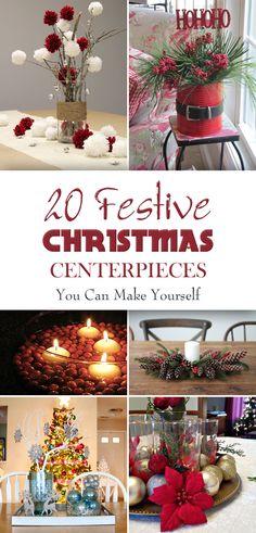 30 dollar store christmas decor ideas diy home decor pinterest 20 festive christmas centerpieces you can make yourself solutioingenieria Choice Image