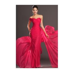 2013 New Gorgeous Trumpet One shoulder Evening Dress EF1066E ❤ liked on Polyvore