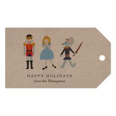 Nutcracker Ballet Gift Tags