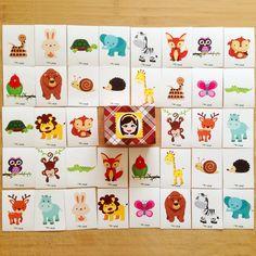 """""""Pia Polya Orman Hayvanlarının Eşini Bul"""" 12ay ve 48ay çocuklar içindir. A3"""
