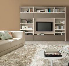Buy Siena Wall Unit for Sale at Deko Exotic Home Accents. Siena bookcase wall unit with clean lines exemplifies exceptional Italian design where form meets functionality.
