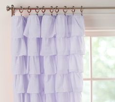 Perfect Curtains for your child's room! –Lavender Tiered Ruffle Sheer from Pottery Barn Kids