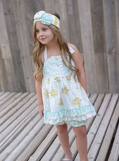 Serendipity Cottage Chic Halter Tunic Shorties PREORDER