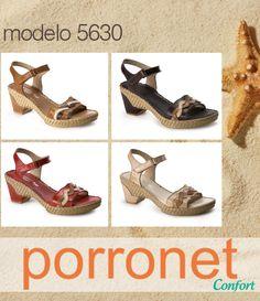 fa23e970 #Sandalias de piel #Porronet Confort! máxima comodidad para tus pies!  Disponibles en