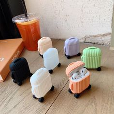 Cute AirPods Suitcase Cute AirPods Suitcase Fit for both AirPods 1 andAirPods 2 Made of pure silicone. Not only an AirPods case but also a keychain. Keep yourAirPods away from scratches, bumps, and dust. Seven colors per pack Cute Cases, Cute Phone Cases, Iphone Phone Cases, 5s Cases, Fone Apple, Apple Airpods 2, Boots Cowboy, Cute Suitcases, Pastel Candy