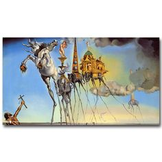 Cheap living room wall decor, Buy Quality abstract picture directly from China silk poster Suppliers: NICOLESHENTING The Temptation of Saint Anthony Salvador Dali Art Silk Poster Print Abstract Pictures Living Room Wall Decor