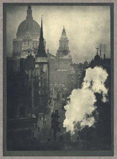 St. Paul's From Ludgate Circus   Coburn, Alvin Langdon, b.1882-1966  London, 1910  16.5 x 22.7cm  Photogravure