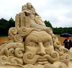 Giant+Sand+Sculptures | Mermaid Sand Sculptures