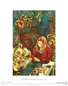 Doctore Who Art Sun Flowers