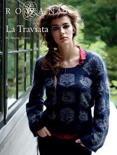 La Traviata pullover; free off of Knit Rowan website