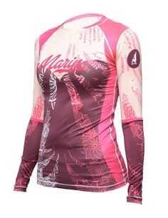 Womens Beach Wear Colors Match Long Raglan Sleeve RASHGUARD