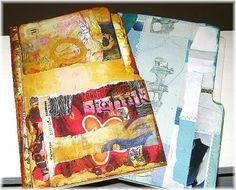 Turn a file folder into a little journal - http://gretchenmiller.wordpress.com/2011/11/27/file-folder-art-journal-video-how-to-tutorial/
