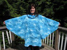 Hooded Poncho hooded Fleece poncho Tie Dye Fleece by adfabinidaho