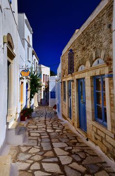 lets go for a walk - tradiotional alley of Tinos
