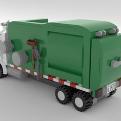 Garbage Collection, Garbage Truck, Product Ideas, Lego Ideas, Lego City, Tractors, Trucks, Cars, Projects