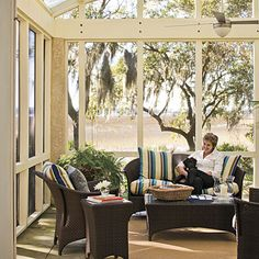 Sunny Screened Porch - Porch and Patio Design Inspiration - Southern Living