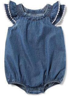 Flutter Sleeve Bubble One-Piece for Baby