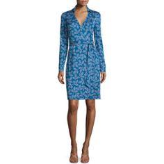 Diane von Furstenberg Long-Sleeve Leaf-Print Wrap Dress for buy >>>$$price $398.00 At : Top10dresses #Diane-von-Furstenbergdress #Diane #von #Furstenberg #Long-Sleeve #Leaf-Print #Wrap #Dress #for #buy