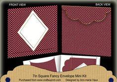 Hot Pink Dotty Diamond 7x7inch Easy Envelope Mini Kit on Craftsuprint - Add To Basket!