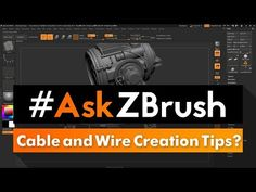 "#AskZBrush: ""Do you have any tips for creating cables and wires in precise locations?"" - YouTube"