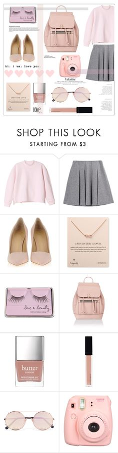 """Love.ly"" by rheeee ❤ liked on Polyvore featuring Monki, Fall Winter Spring Summer, Giuseppe Zanotti, Dogeared, Forever 21, Accessorize, Butter London, Witchery, Sunday Somewhere and H&M"