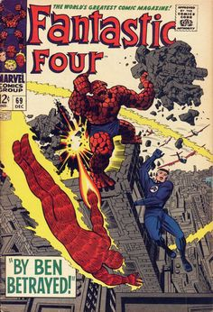 Fantastic Four #69, Thing Goes Rampage, Art: Jack Kirby