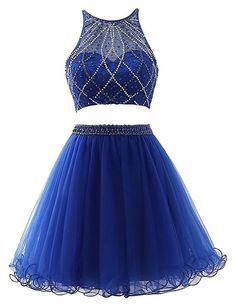 Royal Blue Two Pieces Homecoming Dress, Short Mini Prom Dress with Beading ,Fashion School Dance Dress, Custom Made Sweet 16 Dress Source by 16 dresses two piece Dama Dresses, Two Piece Homecoming Dress, Blue Homecoming Dresses, Best Prom Dresses, Grad Dresses, Cute Dresses, Party Dresses, Quinceanera Dresses, Evening Dresses