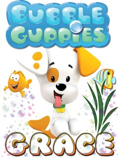 Personalized Custom NAME T-shirt Bubble Guppies Puppy