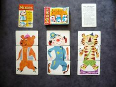 My Vintage Avenue !!! 50's and 60's illustrations !!!: Vintage Mixies Card Game !!! ( 1956 )