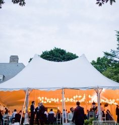 Wedding Decor: Tent Reception in Rye, New York //  via Inspired by This