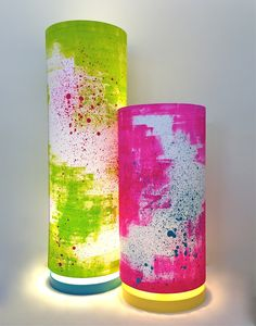 neon lights hand painted lamp with base - lge and med by Seven Dandelions Neon Bedroom, Dream Bedroom, Pink Neon Lights, Neon Girl, Painting Lamps, Gifts Australia, Neon Nights, Cool Rooms, Neon Lighting