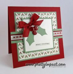 PPA116 - Holly Berry Christmas by Cindy Hall - Cards and Paper Crafts at Splitcoaststampers