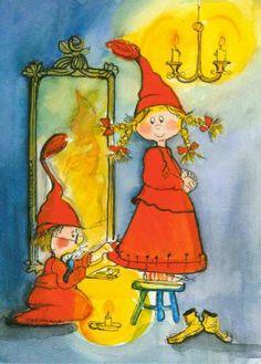 Postcrossing postcard from Finland Christmas Elf, Christmas Pictures, Baumgarten, Whimsical Art, Cute Illustration, Beautiful Artwork, Vintage Cards, Illustrators, Scandinavian