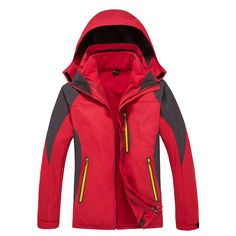 52.52$  Buy now - http://alioco.shopchina.info/go.php?t=2038929845 - Dropshipping Brand Outdoor Waterproof sports men Windproof Climbing Hiking clothes skiing jacket Coats winter jacket 3 in 1  #buychinaproducts