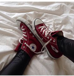 Imagine converse, shoes, and red