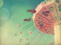 carnival, chairs, circus, fun, merry go round, pink