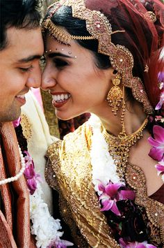 I just like this picture cuz they look so happy!!  Cuyana Blog: The Indian Wedding