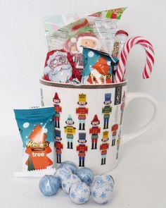 Nutcracker Christmas Gift Mug Filled With Assorted Christmas Candy #Christmas