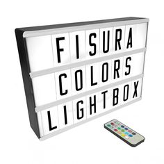 Gr. mehrfarbiger Leuchtkasten | FISURA