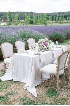 Anna Campbell Brautkleider im Lavendelfeld von The Wedding Playbook und Agent86…