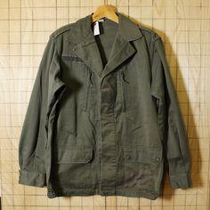 フランス軍ミリタリー古着1990年製カーキF2コンバットジャケット|メンズL相当|