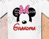Disney Family Vacation t shirts Iron On Transfer Printable Grandma trip to Disneyworld digital download Disney Mickey Ears Disney shirt