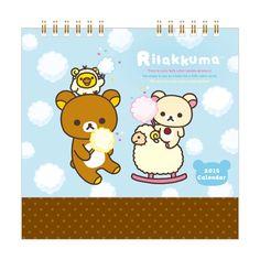 卓上カレンダー(リラックマ・水色)