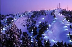 Boise, Idaho ~ Joe's parents live there ~ this is Bogus Basin ~ both breathtaking and frightening to drive back down in the snow!!!!