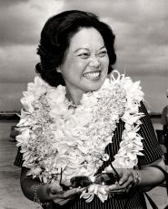 Patsy Mink co-authored and was the driving force behind Title IX which celebrated its 40th Anniversary this weekend. Title IX opened up doors for women education. Before then discrimination in education and athletics was common. Thanks Pasty Mink!