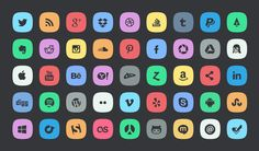 Freebie - Free Icon Design Sets For Your Inspiration | free icon set | Graphic Design Inspiration