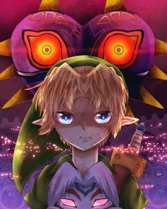 The Legend of Zelda: Majora's Mask, Young Link / 「遊んでやるよ」/「あまいりもずく」のイラスト [pixiv]