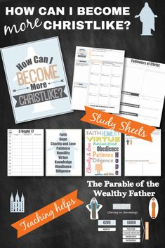 """""""How Can I Become More Christlike?"""" Awesome LDS lesson with 6 study and learning activities. #octobercomefollowme"""