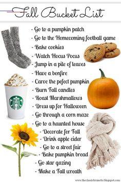 The Ultimate Fall Bucket List - #fallbucketlist Pumpkin Chili, A Pumpkin, Fox Cookies, No Bake Cookies, Vacation Ideas, Planner Stickers, Herbst Bucket List, Happy Belated Birthday, Dekoration
