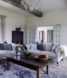 Modern Luxury French Sitting Room. Redo And Fix The Existing Ceilings Since  That Beam Design Part 54
